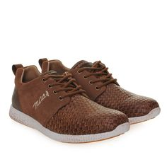 MARLBORO CLASSICS Brown Leather Suede Sneakers with Laces. Ανδρικά καφέ  δερμάτινα καστόρινα παπούτσια 039a608729d