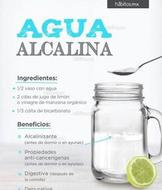 Alkaline water kills cancer cells and heals the skin .- El agua alcalina mata a las células cancerosas y sana al cuerpo. Alkaline water kills cancer cells and heals the body. Healthy Living Tips, Healthy Tips, How To Stay Healthy, Healthy Recipes, Healthy Food, Natural Detox, Natural Herbs, Healthy Juices, Healthy Drinks