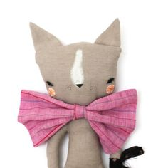 Stoffpuppe Little Fleur Cat von Abigail Brown . adorable!