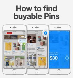 """Shop on Pinterest! If you're looking for something specific, type in a search and tap """"See more"""" to show buyable Pins, only. Then tap $ to find Pins in a specific price range."""
