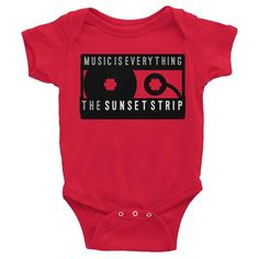 Sunset Strip Music Is Everything Cassette Infant (onesie) one-piece