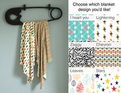 Large Organic Swaddle Blanket by BoltNo3 on Etsy, $38.00
