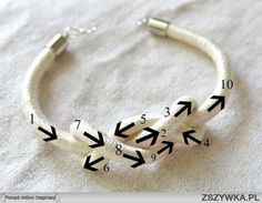 MiiMii - crafts for mom and daughter .: Free course jewelry making parts. 1 - how to make bracelet DIY. Jewelry Knots, Bracelet Knots, Jewelry Crafts, Beaded Jewelry, Handmade Jewelry, Diy Bracelet, Knotted Bracelet, Jewellery Bracelets, Crochet Bracelet