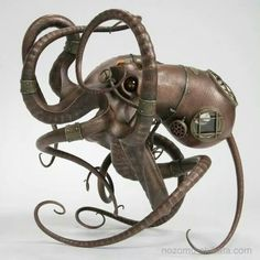 Fantasy | Whimsical | Strange | Mythical | Creative | Creatures | Dolls | Sculptures | Steampunk Octopus