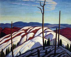 Lawren Harris, First Snow, North Shore of Lake Superior, oil on canvas, is shown in a photo released Tom Thomson, Emily Carr, Group Of Seven Artists, Group Of Seven Paintings, Canadian Painters, Canadian Artists, Landscape Art, Landscape Paintings, Landscapes