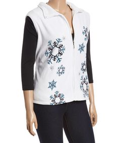 Love this White Snowflake-Embroidered Vest - Plus on #zulily! #zulilyfinds