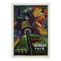 World's Fair - 1934 - love the world's fair posters