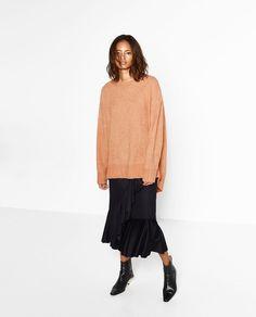 OVERSIZED SWEATER-Sweaters-KNITWEAR-WOMAN | ZARA United Kingdom