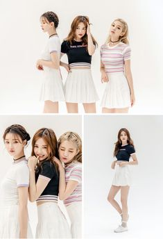 Striped Band Hem Cropped Top - I know you wanna kiss me. Thank you for visiting CHUU. Pop Fashion, Skirt Fashion, Fashion Looks, Fashion Outfits, Womens Fashion, Korean Fashion Trends, Asian Fashion, Ulzzang Fashion, Ulzzang Girl