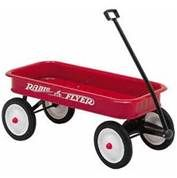 1970 childs red wagon .  she also like her wagon to pull her toys around