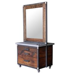 Lakota Double Sided Styling Station in Reclaimed Pine - Styling Stations