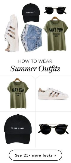 """Today summer outfit"" by ariaortiz on Polyvore featuring adidas Originals"