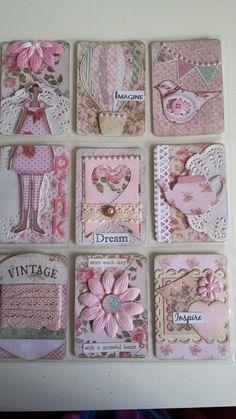 Pocket Letters ❤ Tilda in Pink 💗 Pocket Pal, Pocket Cards, Atc Cards, Journal Cards, Pocket Scrapbooking, Scrapbook Cards, Pocket Envelopes, Karten Diy, Arte Country