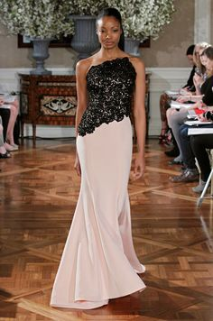 Pink and black #wedding gown from Romona Keveza Couture, Spring 2013