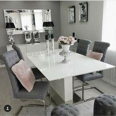 ♔Pinterest♔ - ♡fancypinsbylara♡ Living Room Grey, Home Living Room, Interior Design Living Room, Living Room Decor, Dining Room Table Decor, Elegant Dining Room, Dining Room Design, Luxury Dining Room, Dinner Room