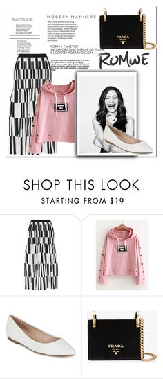 """""""Romwe Velvet"""" by muhammadtanim ❤ liked on Polyvore featuring Proenza Schouler, Beautiful People, BCBGeneration and Prada"""