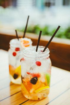 Summer Sangria by Sean Berrigan Photography on Creative Market Summer Sangria, Frozen Fruit, Panna Cotta, Drinks, Ethnic Recipes, Creative, Photography, Food, Drinking
