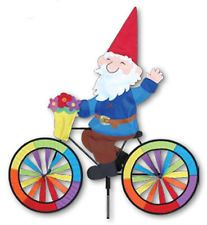 Garden Gnome on a Bicycle Wind Spinner PR 26725