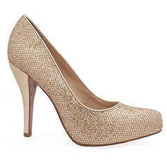 Scarpin Numeração Especial Miucha 1638 Champagne - Sapatos Femininos, Sandálias, Peep Toes, Calçados em Numeração Especial - Sapato Show $145