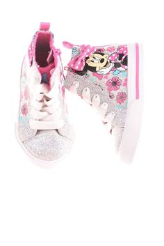 7855dcbcd81 USED Disney Baby Girl s Shoes 5 White Pink  amp  Blue  fashion  clothing