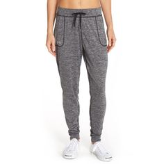 Women's Under Armour 'Twist' Jogger Pants ($45) ❤ liked on Polyvore featuring activewear, activewear pants, joggers, pants, black, under armour sportswear and under armour