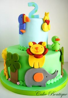 Jungle cake!!! **** simple and colorful JB