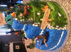 my dad and gpa and nephew would love this cake  Hunting  fishing cake