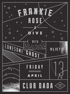 GigPosters.com - Frankie Rose - Dive - Lonesome Ghost - Vliets  http://www.gigposters.com/designer/123399_Aaron_Eiland.html