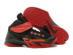 reputable site 0b3e3 ed469 Nike zoom lebron soldier 8 viii ae - chaussure de basket-ball pas cher pour  homme blanc noir-rouge 653642-600