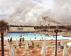 joel sternfeld. Wet'n Wild Aquatic Theme Park. Orlando, Florida, September 1980.my favourite photographer