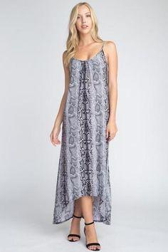 58967f202897e Women's Snakeskin Print Maxi Tank Dress