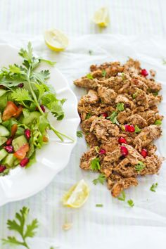Sips and Spoonfuls: Arabic Shawarma. I will have to make this for My friends soon moving to Dubai! Lebanese Recipes, Turkish Recipes, Ethnic Recipes, Syrian Recipes, Cooking Recipes, Healthy Recipes, Pie Recipes, Chicken Recipes, Recipies