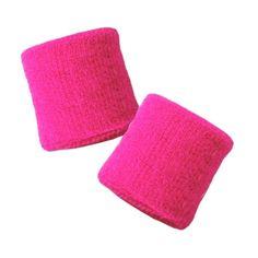 2 Schweissbänder pink uni - EMO SHOP SCENE STYLE KLEIDUNG SCHMUCK +... ❤ liked on Polyvore featuring bracelets, pink and sweatband