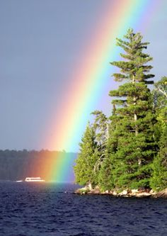 Rainbow in Voyageurs National Park Minnesota