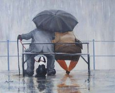 SITTING IN THE RAIN. IF SOMEBODY KNOWS THE PAINTER PLEASE LET ME KNOW, THANKS