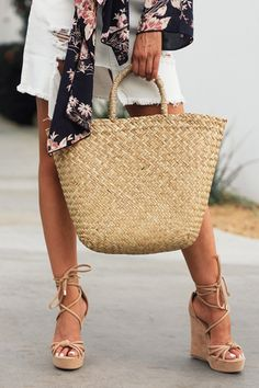 Basket Bag, Straw Bag, Spring Summer, Handle, Medium, Bags, Collection, Outfits, Fashion