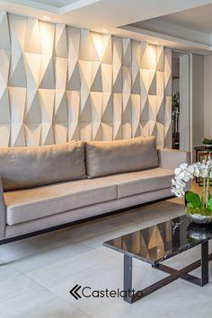 Living Room Home Theater, Living Room Modern, Living Room Decor, Wall Cladding Interior, Interior Walls, Home Office Design, Modern House Design, Wall Panel Design, Wardrobe Design Bedroom