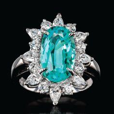 2017 Catalog Flipbook | Oscar Heyman Aqua, Teal, Turquoise, Heart Promise Rings, Tourmaline Jewelry, Art Deco Jewelry, Luxury Jewelry, Georgian, Amazing Women