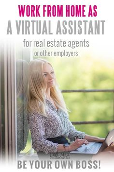 Learn how to become a real estate virtual assistant! All your questions answered by VA with a Real Estate license and Real Estate VA experience of years Best Online Jobs, Online Jobs From Home, Make More Money, Make Money From Home, Need Cash Now, Virtual Assistant Services, Successful Online Businesses, Work From Home Tips, Working Moms