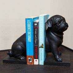 Playful Pug Dog Bookends