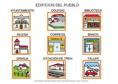 Edificios del pueblo by Dana Horodetchi, via Slideshare First Grade Classroom, Education, Php, Html, Classroom Ideas, Android, Communication Boards, Graphic Organizers, Activities For Kids