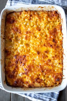 Southern baked macaroni and cheese, soul food classic with egg and evaporated milk custard and lots of cheese, baked until set and browned on top. #thehungrybluebird #southernbakedmacaroniandcheese #bakedmacaroniandcheese #macandcheese #soulfood #southernfood #pastabake #sidedish Mac And Cheese Recipe Soul Food, Baked Mac And Cheese Recipe, Mac And Cheese Homemade, Southern Macaroni And Cheese, Best Macaroni And Cheese, Macaroni Cheese Recipes, Cooking Recipes, Oven Recipes, Vegetarian Cooking