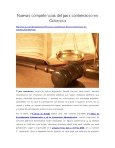 Nuevas competencias del juez contencioso en Colombia