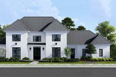 Dream House Exterior, Dream House Plans, House Exteriors, Two Story House Plans, Exterior Homes, Dream Houses, Exterior Paint, Exterior Design, Southern House Plans