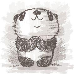 Panda drawing on Behance …