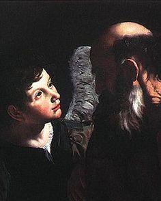 The Sacrifice of Isaac Caravaggio detail