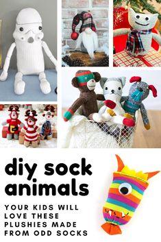 SOCK SNAIL CRAFT KIT. Christmas gift! Creature, sewing, kids, adult, monkey