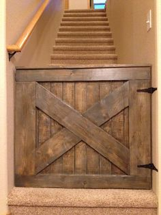 This barn door baby gate brings style to your home while keeping your children and dogs safe. We can make it to the measurements of your