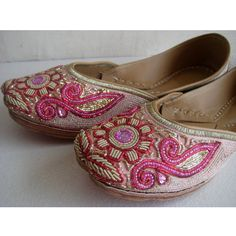 Sequin Bridal Ballet Flats/Wedding Shoes/Satin Shoes/Pink Shoes/Handmade Indian Designer Shoes/Maharaja Style Women Jooties