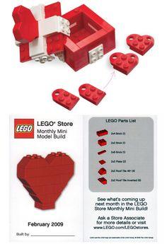 Lego heart box DIY kit -- lego hearts @ bloomize.com